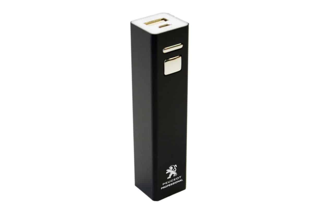 peugeot-powerbank-tampondruck-bedruckt-usb-werbemittel-werbeartikel-giveaway-merchandising
